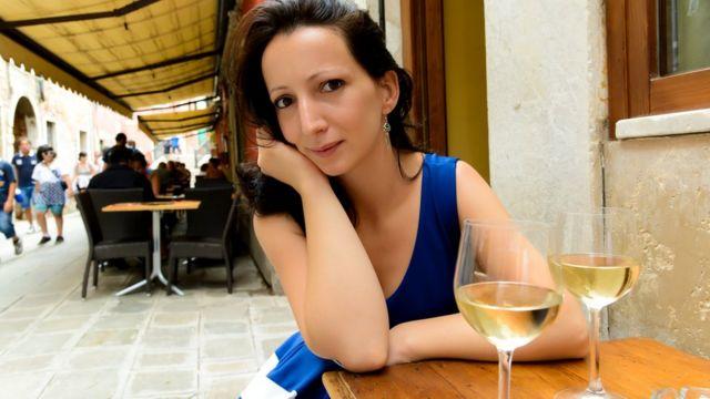 Венеціанка у вуличному кафе
